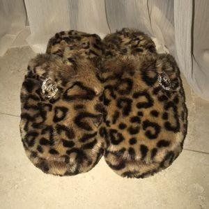 Michael Kors Cheetah Print Slippers